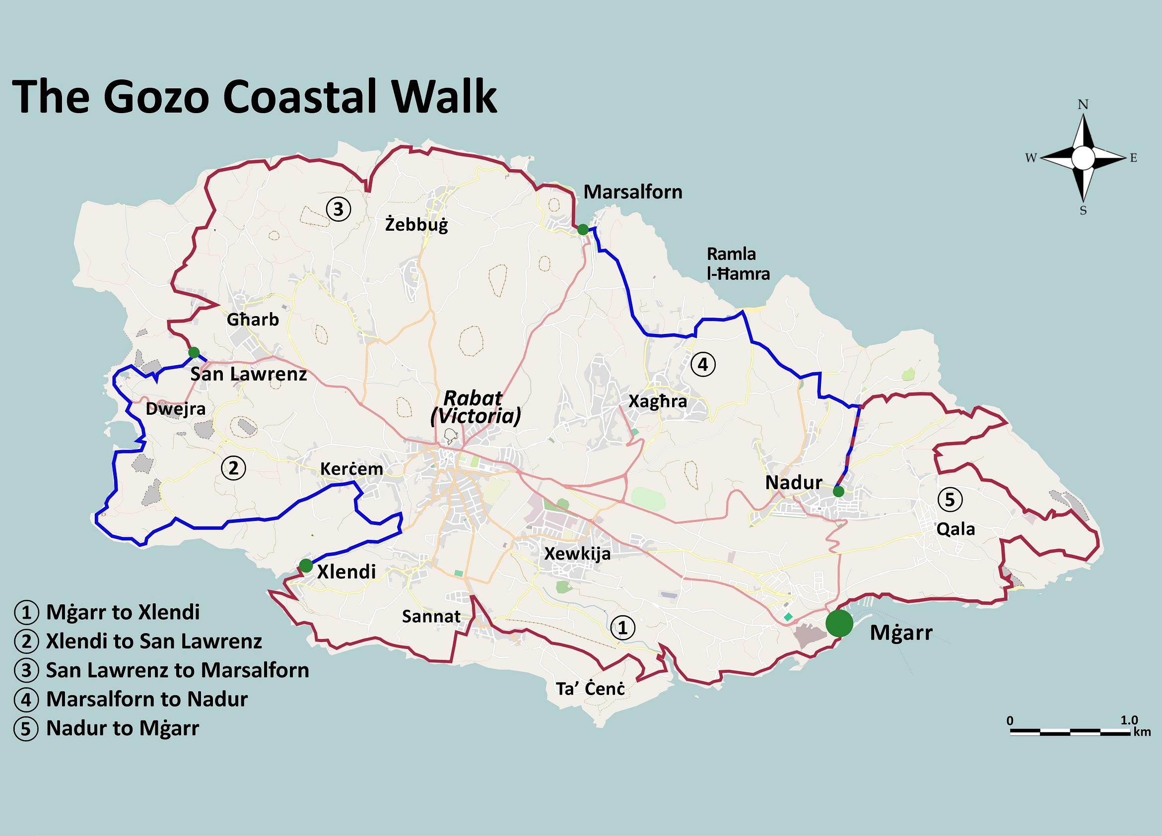 Gozo map books walks x26amp x3cb x3emaps x3c b x3e walking in